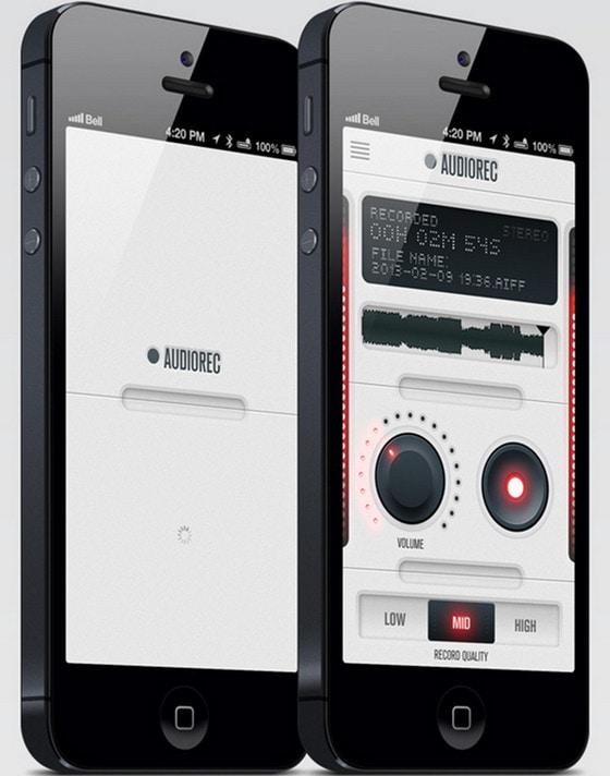 AudioRec UI by Miguel Pires