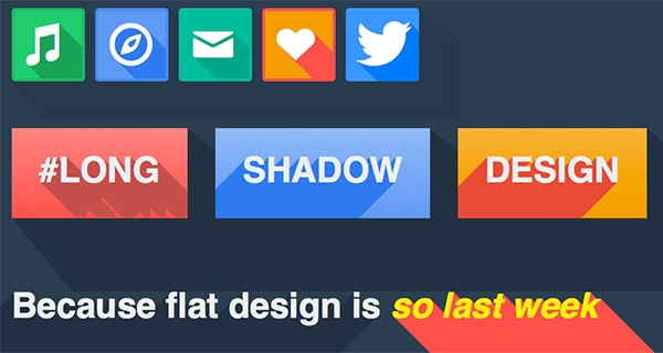 Long Shadows in CSS3