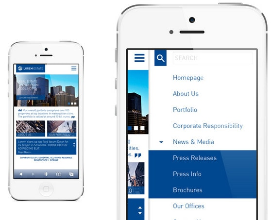 Real estate company mobile site by Crys