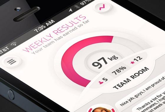 Weight Loss App Design by Nikita Abramenkov
