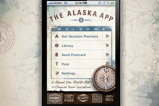 Alaska iPhone App by Urban Influence