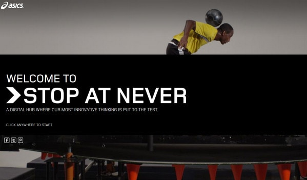 Asics _ Stop at Never