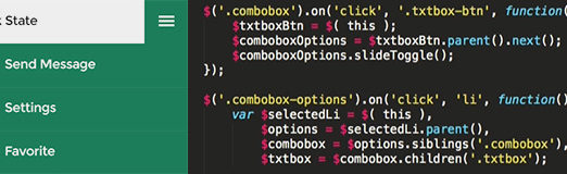 How to Create Flat Styled Combo Box with Square UI (Part 1)