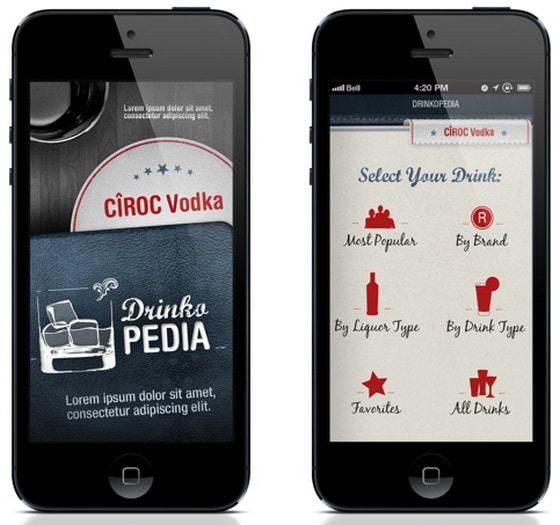 Drinks App UI Design by Yanina Fiorillo