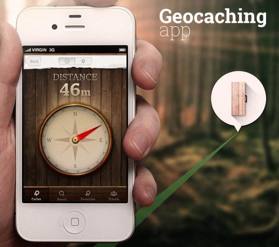 Geocaching app by Radek Skrzypczak
