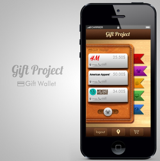 Gift Project App Design by Oliver Strom