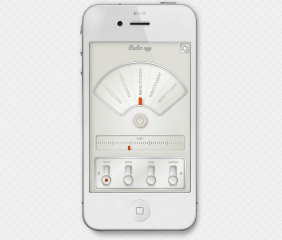 Radio app for iPhone by Sebastian Zetko