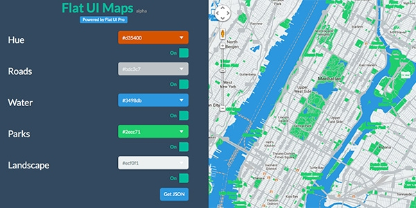 Google Maps with jQuery and Flat UI