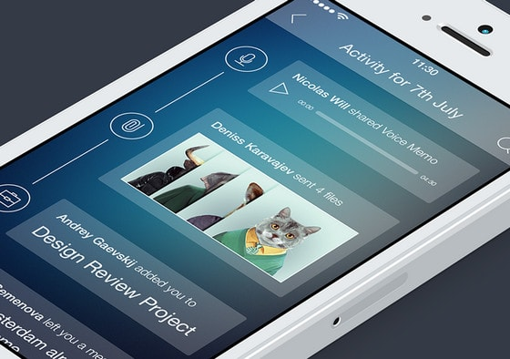 Activity Tracking App Concept by by Alexander Zaytsev