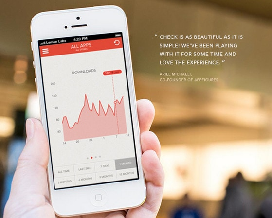 Check for appFigures iOS app by Vidas Bucinskas