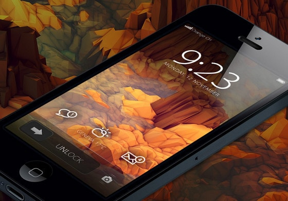 Revisited iPhone home screen by Loris Grillet