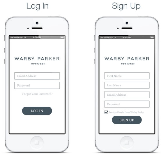 Warby Parker App