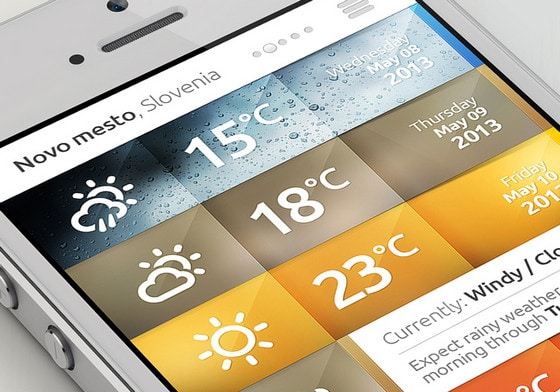 Weather iPhone APP by DrawingArt