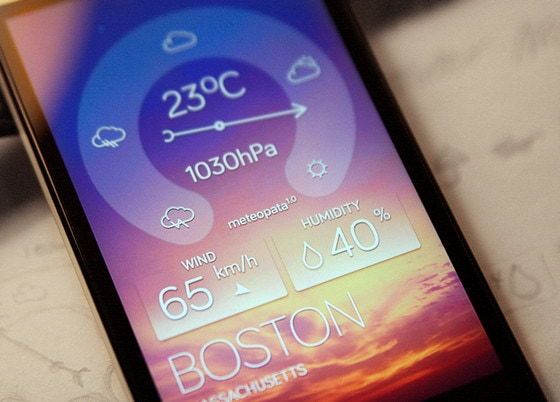Weather widget by Piotrek Sliwa