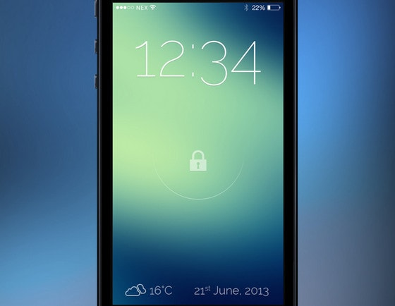 iOS 7 Lock Screen by Maximlian
