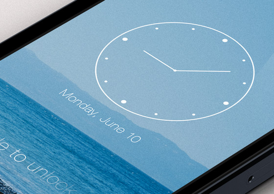 iOS7 Lock Screen by Charles Patterso