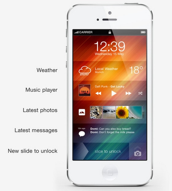 iPhone home screen concept by Andre R Almeida