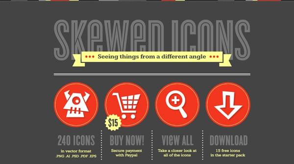 Skewed-icons
