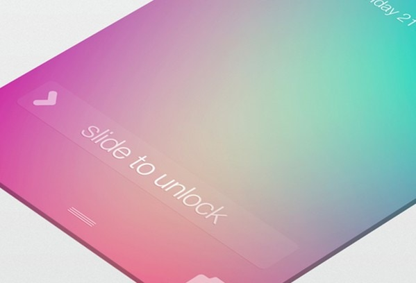 iOS7 Lockscreen by Michael Shanks