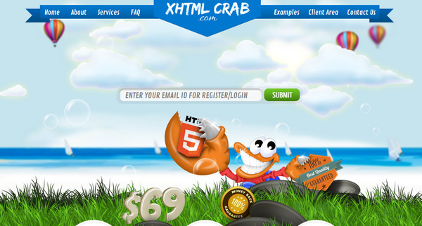 XHTML Crab