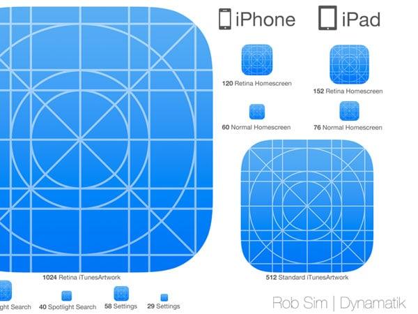 iOS 7 Icon Set - PSD + Sketch