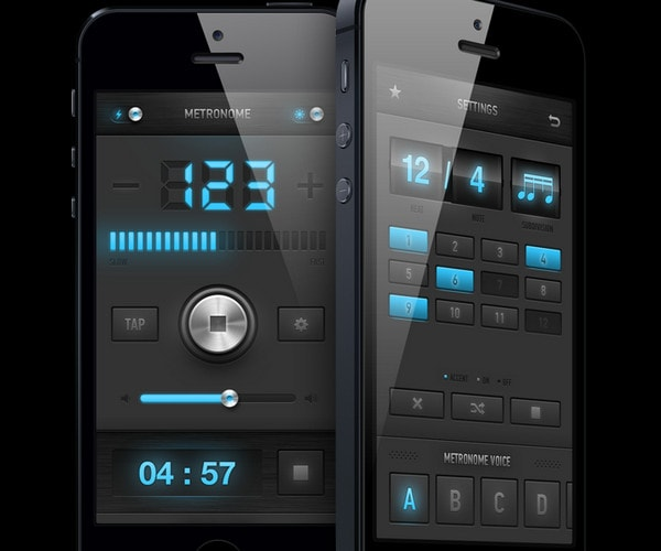 Metronome app redesign by Dimiter Petrov
