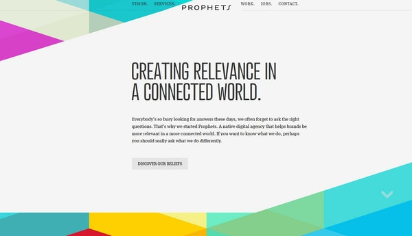 Touch of Slanted Direction Website Designs Featuring