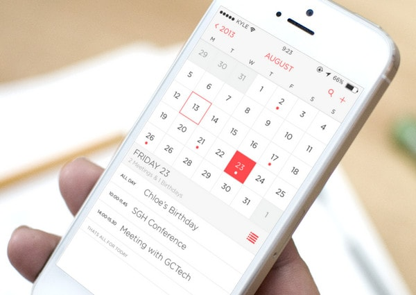 iOS 7 Calendar App Redesign by Kyle Craven