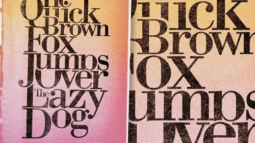 Classic serif poster