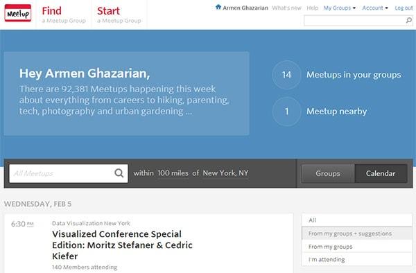 Meetup web