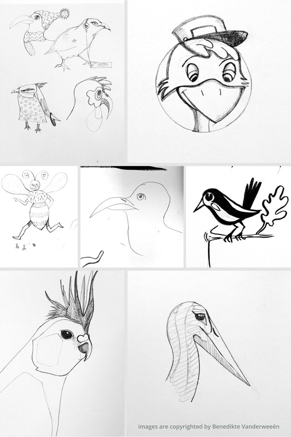 Collect your sketches
