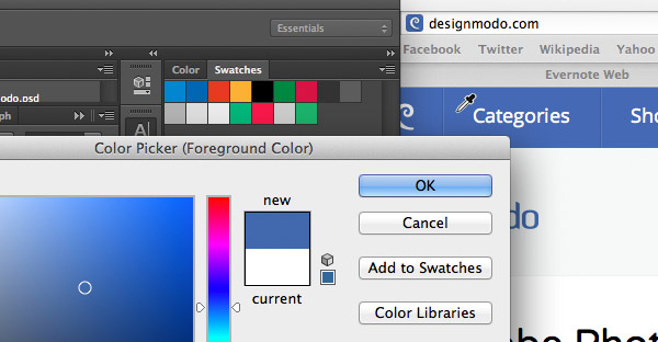 Select Colours outside of Photoshop
