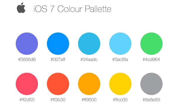 Inspired by the iOS 7 color palette.