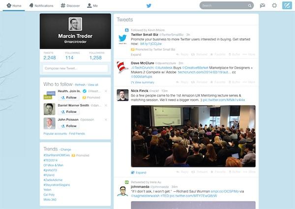 Twitter design now