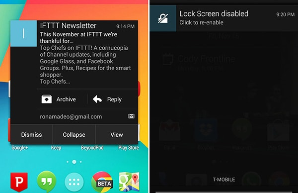 Android notifications