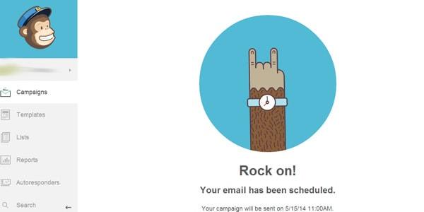 Mailchimp rock on
