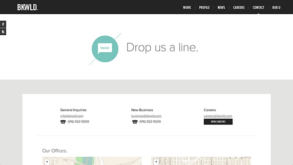 Contact Pages Showcasing Great User Experience Designmodo - Bootstrap contact us page with map