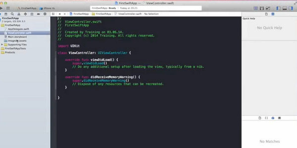Apple Swift Tutorial Simple iOS Swift GUI Application