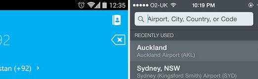 Hot User Input Design Patterns for Mobile