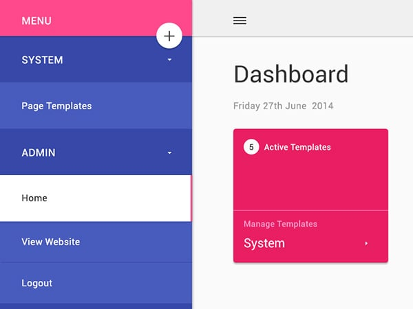 Google's Material Design Dashboard