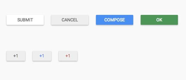 Material Design UI Buttons