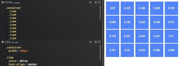 Google Material Design Hierarchical Timing