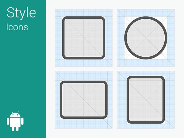 Material Design Icon Grid System