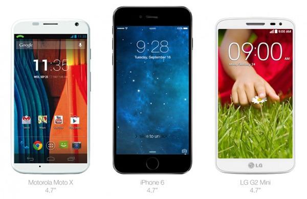 iPhone 6 vs moto x vs lg g2 mini
