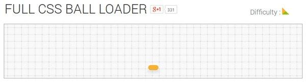 Full CSS Ball Loader