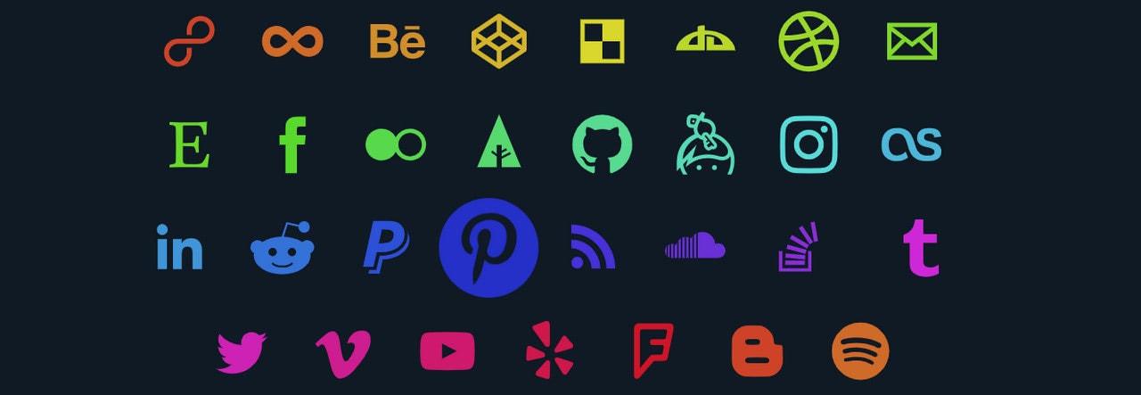 SVG Social Media Icons by Ruandré Janse van Rensburg