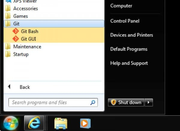 git bash windows