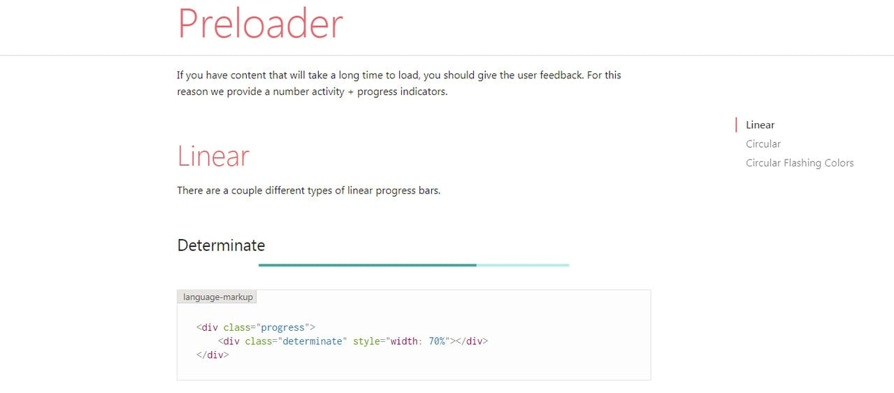 Preloader by Materialize CSS
