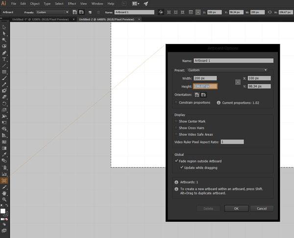Modify Artboard Dimensions