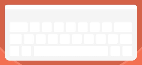 Keyboard third row